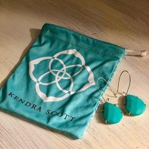 Kendra Scott Turquoise drop loop earrings